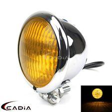 Retro Motorcycle Old School Copper Ring Headlight Lamp For Bobber Chopper Custom