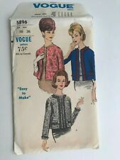 Vogue Sewing Pattern 5896 jacket 1950s Vintage