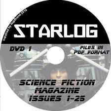 STARLOG 1-25 Sci-Fi Science Fiction Mag on  DVD1 Star Trek, Babylon, Dr Who +