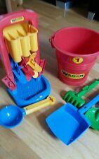 Sandspielzeug 6 Teile Eimer Wasserrad von Wader NEU