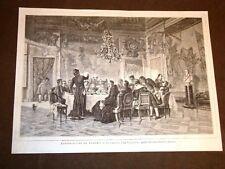 Esposizione d'arte di Torino del 1875 Pranzo del Vescovo di Federico Pastoris
