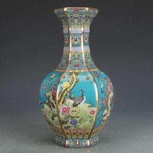 Qing Qianlong Jingdezhen Ceramic Enamel Porcelain Vase Antique reproduction