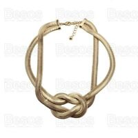 STATEMENT KNOT NECKLACE quality gold fashion LARGE SNAKE CHAIN COLLAR gift UK