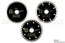 """3-pc 4"""" Diamond Blades DRY/WET/TURBO Saw Blade Wheels Tile Concrete"""