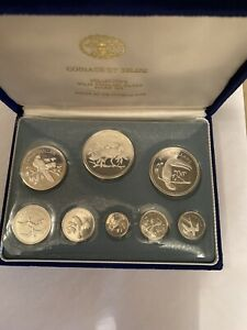 COINAGE OF Belize 8 Coin  SOLID Silver Proof Set 1974