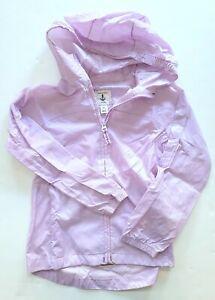 Land's End 5-6 Girls Lavender Purple Packable Rain Jacket Coat RC1-4