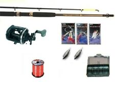 1.8 Metre(6ft) Carbon Boat Sea fishing rod,multiplier, line,accessories set, NEW