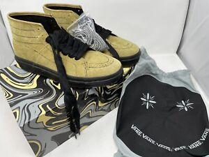 Vans Vault x Taka Hayashi Sk8 Boot LX Hairy Suede Tapenade Black Men's Size 11