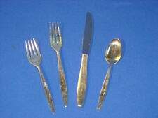 ONEIDA SILVER PLATE FLATWARE ENCHANTMENT OR GENTLE ROSE 4 PIECE SETTING