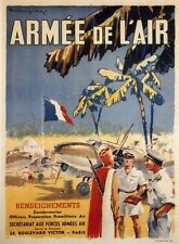 """""""ARMEE DE L'AIR"""" Affiche originale entoilée Litho RAULLING années 50 63x84cm"""