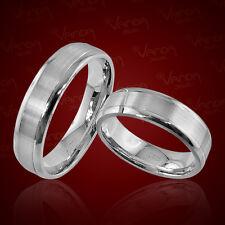 2 Silber Trauringe mit Gravur Eheringe Verlobungsringe Freundschaftsringe pr37