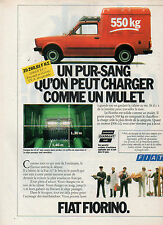 Publicité Advertising 1981  FIAT FIORINO Fourgon Utilitaire