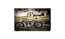 1920 bluebird Bike Motorcycle A4 Retro Metal Sign Aluminium
