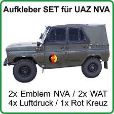 Set ADESIVI PER UAZ uaz469 uaz469b con emblema NVA DDR