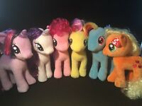 "TY 11"" (28CM) MY LITTLE PONY SOFT PLUSH TOYS -   GENUINE LICENCED TY - UK SELLER"