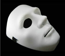 Halloween Festival Party Mask White Blank Full Face Elastic Mask Prop Costume