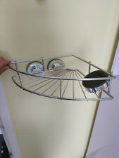 Silver Bathroom Corner Shelf - very strong suction cups with locking