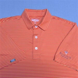 STRAIGHT DOWN STRETCH GOLF SHIRT--M-BLUEJACK NATIONAL-EXCEPTIONAL LOOK & QUALITY