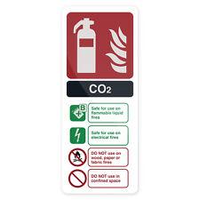 Co2 En3 Fire Extinguisher Sign 202 x 82mm Rigid Signage Safety Signs