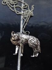 Silver  Game Thrones Dire Wolf  Necklace Stark