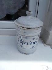 Vintage enamel pot french art deco pot a epices tole emaillée deco cuisine