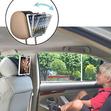 TFY Car Headrest Mount Holder for Universal Tablets with Angle-Adjustable Clamp