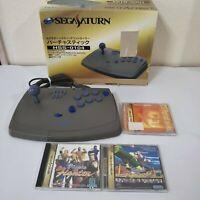Sega Saturn Controller Virtua Stick Arcade Fighting Joystick 3 game HSS-0104 BOX