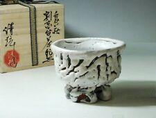 DEMON Chawan ceramica Giapponese SEIGAN YAMANE   pottery ONI-HAGI tea bowl