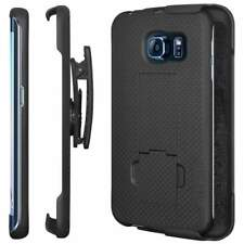 Samsung Galaxy S6 Edge Belt Clip Shell Holster Combo Phone Case Kick Stand Cover