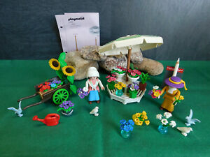 Playmobil Nostalgie/rosa Serie Blumenstand 5343-A/1996 II, gel. BA, ohne OVP!