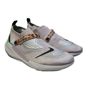 Nike Mens Size 10 OBJ Joyride Flyknit Marathon Running Shoes Sneakers Gray Lime