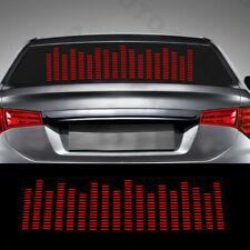 Car Sticker Music Rhythm LED Flash Light Sound Activated Equalizer Red 90cm Kit