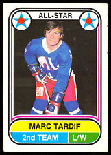 1975 76 OPC O PEE CHEE  WHA #71 MARC TARDIF A S EX+ QUEBEC NORDIQUES HOCKEY CARD