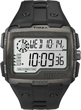 Timex Men Grid Shock With Black Resin Strap Watch