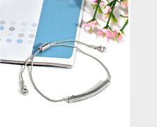 Women's Unique CZ Rhinestone Micro Pave Silver Filled Bracelet Jewellery Gift UK