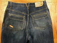AKADEMICS SAFETY PRODUCTS SIDE ZIP HIP HOP JEANS ACTUAL 31 x 30 Tag 32 BEST I18