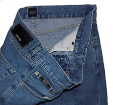 Hugo Boss Arkansas Immaculate Indigo Straight Fit Designer Jeans 32W 32L