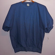 NWT Vintage 80s Augusta Solid Blue T Shirt XL