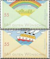 BRD 2786-2787 (kompl.Ausg.) postfrisch 2010 Grußmarken