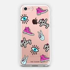 The Casery Girl Gang Patches Clear iPhone 7 Phone Case