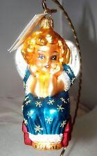 Radko Little LI'L MISS ANGEL Glass Ornament New NWT 1997