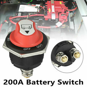 200A Battery Isolator Disconnect Cut Off Power Kill Switch for Car Boat RV ATV√√