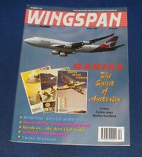 WINGSPAN MAGAZINE APRIL 1996 - QANTAS THE SPIRIT OF AUSTRALIA