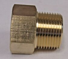 "BRASS ADAPTER 3/4"" NPT FEMALE X 3/4"" BSPP MALE NEW"