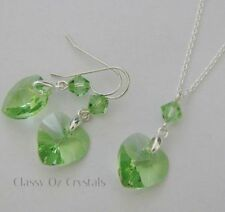 Green Sterling Silver Fine Jewellery Sets