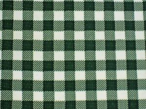 BOTTLE FOREST GREEN GINGHAM CHECK KITCHEN PATIO OILCLOTH VINYL TABLECLOTH 48x108