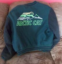 Vintage Arctic Cat Letterman Jacket Men's M Bounty Hunter Snowmobile Lg Graphics