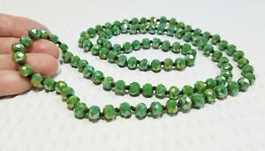 Green Glass Necklace Clean Lined One of a Kind 293 Silver Natural Patinaed Unique Green Tubular Glass Beads Simple Statement Classy