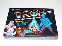 Donrus Tron Full Color Trading Cards Bonus Sticker 36 Count Factory Box 1982