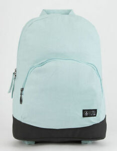 Volcom Schoolyard Canvas Backpack Light Blue NEW
